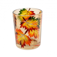 village-candle-svietnik-na-votivnu-sviecku-6-5cm-jantarove-listy-amber-leaves