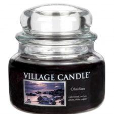 village-candle-vonna-sviecka-v-skle-tajomny-obsidian-obsidian-11oz